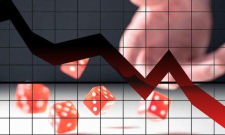 stocks down plus dice