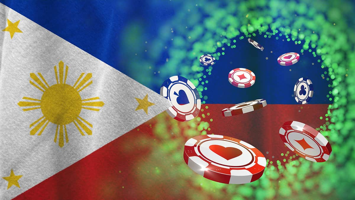 Philippine flag and poker chips