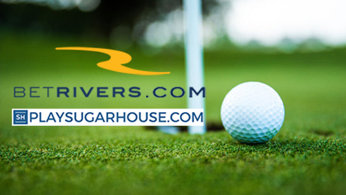 Betrivers.com and PlaySugarHouse.com logo with golf ball on the background