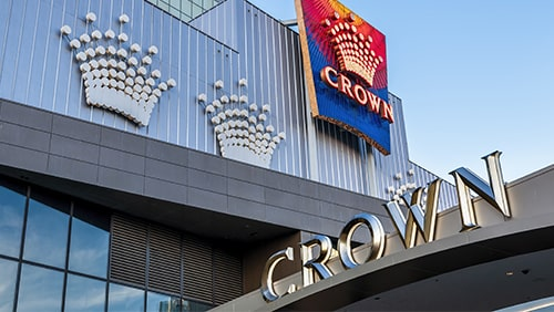 Facade on Crown Hotel and Resorts in Melbourne