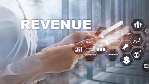 businessman with revenue concept