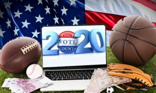 sports betting with 2020 elections concept