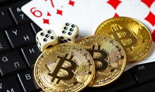 bitcoin gambling concept