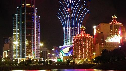 Skyline of Macau at night