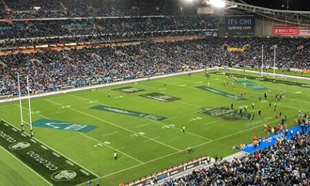 View of ANZ Stadium during State of Origin Game
