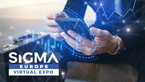 Men using mobile phone and SiGMA Europe logo