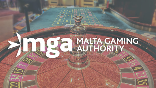 Malta Gaming Authority logo with Roulette game in the background