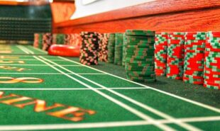 Perspective view from a casino table