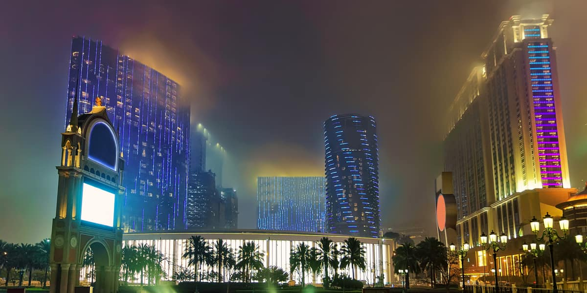 Hotel and Canal of Macau Casino and Hotel luxury resort in Macao China