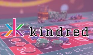 Kindred group logo with casino table at the background