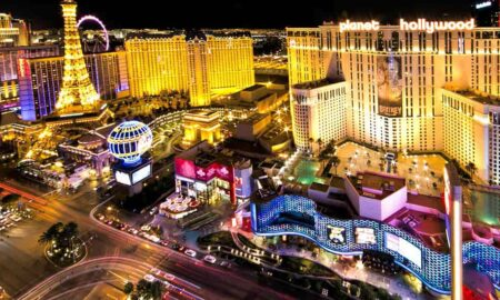 Arial view of some Las Vegas Casino