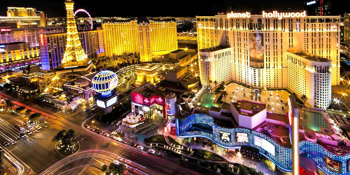 Arial view of some Las Vegas Casino