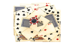 old-vintage-cards-and-gambling-chip-with-clipping