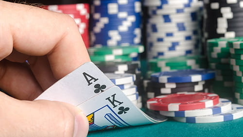 King and ace of clubs on the pokers preflop