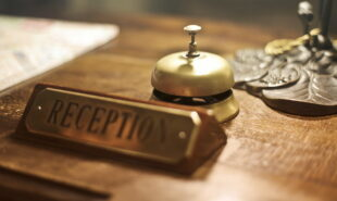 Hotel's reception bell