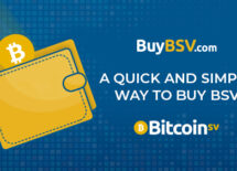 """A poster with the headline """"A quick and simple way to buy BSV"""""""