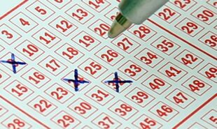 Filled-out lottery ticket