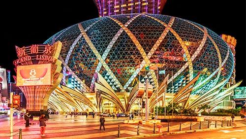 Night Macau cityscape