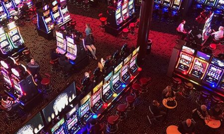 Top view of a casino floor