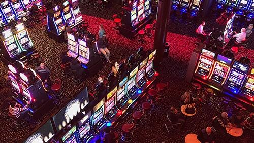 Top view of a casino floor