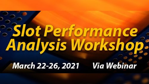 "Poster of the ""Slot Performance Analysis Workshop"""