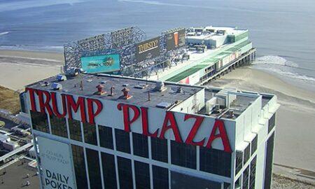 Trump Plaza on the boardwalk in Atlantic City, New Jersey
