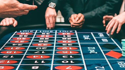 People playing in a casino table