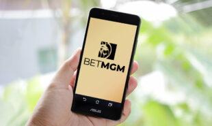 BetMGM on a phone screen