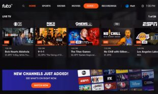 FuboTV online interface