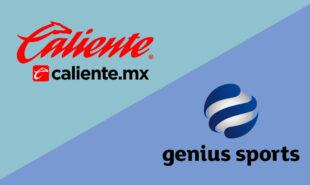 Grupo Caliente and Genius Sports logos