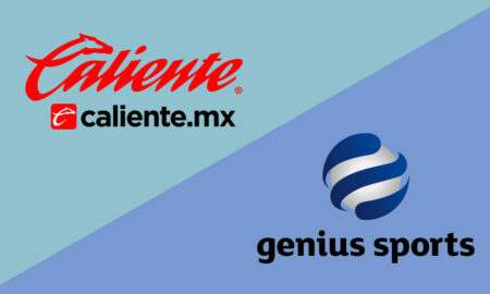 Grupo Caliente and Genius Sports logos