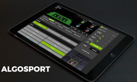 Algosports on tablet screen