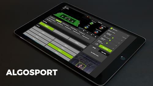 Algosports on tablet screen