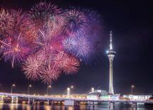 Fireworks, Macau, Tower, Night, Sightseeing
