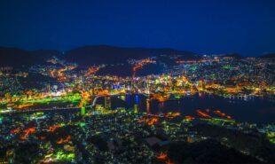 Nagasaki, Japan at night