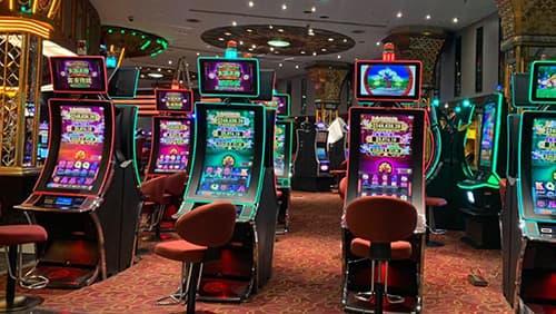 Slot machines inside Genting casino