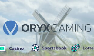 Oryx Gaming logo with windmill in the background