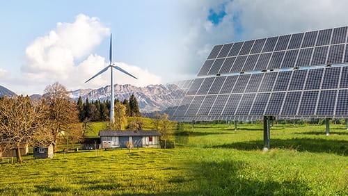 Renewable energy, solar and wind