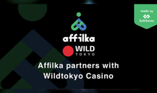 Image announcing the partnership of Affilka and Wild Tokyo Casino