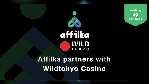 Gambar mengumumkan kemitraan Affilka dan Wild Tokyo Casino