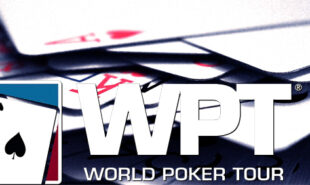WPT Tour logo with poker cards background