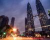 Malaysia's Petronas Tower at night