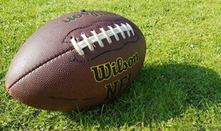 Wilson football with NFL logo