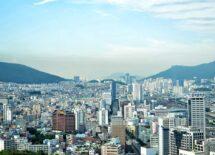 South Korea skyline, Metropolis, cityscape