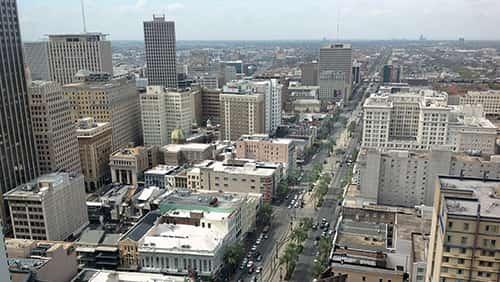 Pencakar langit New Orleans, kaki langit