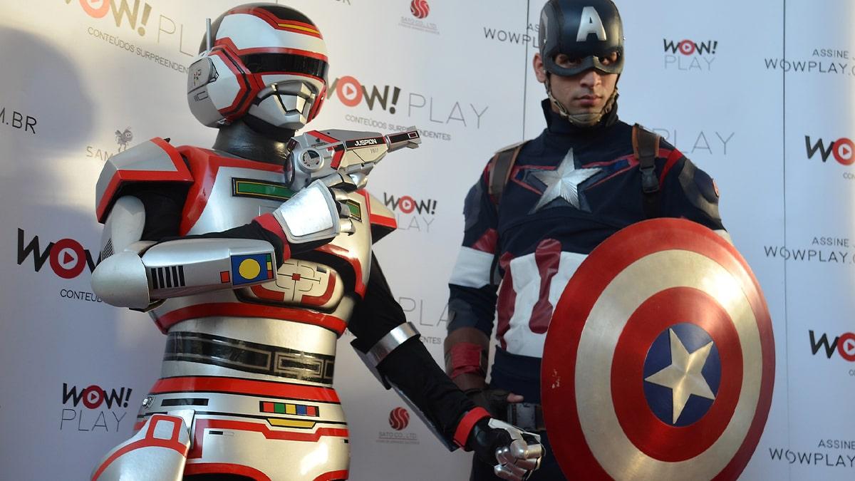 Fan of Captain America cosplay