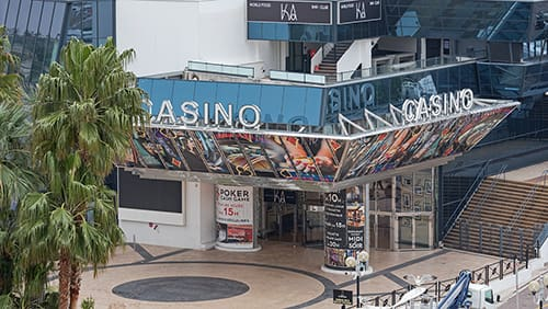 Casino Building at Famous Festival Hall in Cannes, France