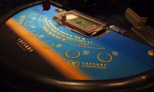 Black Jack, Casino chips on a table, Poker