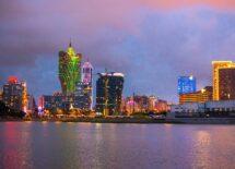 Macau at dusk, cityscape