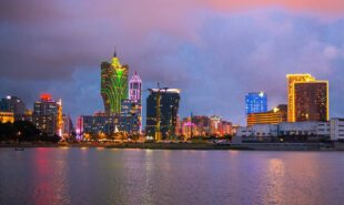 Macau at dusk, cityscape